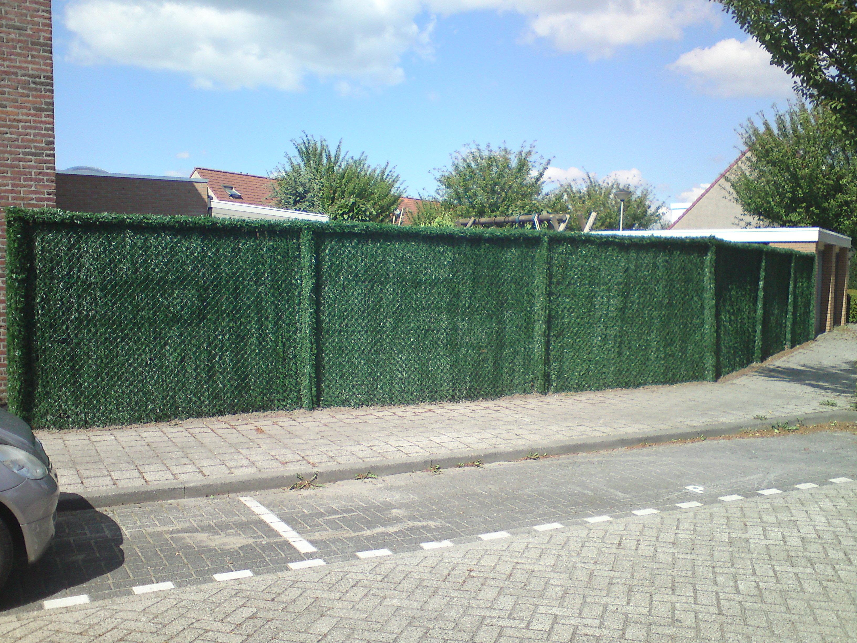 kunsthaag, draadkant, palen bekleed hoek, safegarden.nl, filiaal Antwerpenen filiaal Limburg